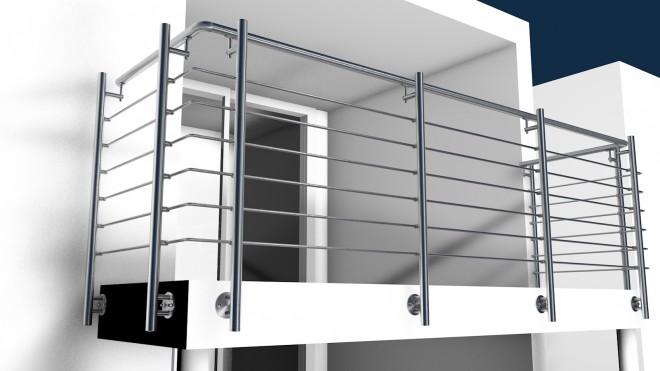 edelstahl reling gel nder online bestellen und selbst montieren huero vertriebs gmbh. Black Bedroom Furniture Sets. Home Design Ideas