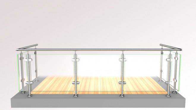 edelstahl glas pfosten gel nder online kaufen und selbst montieren huero vertriebs gmbh. Black Bedroom Furniture Sets. Home Design Ideas