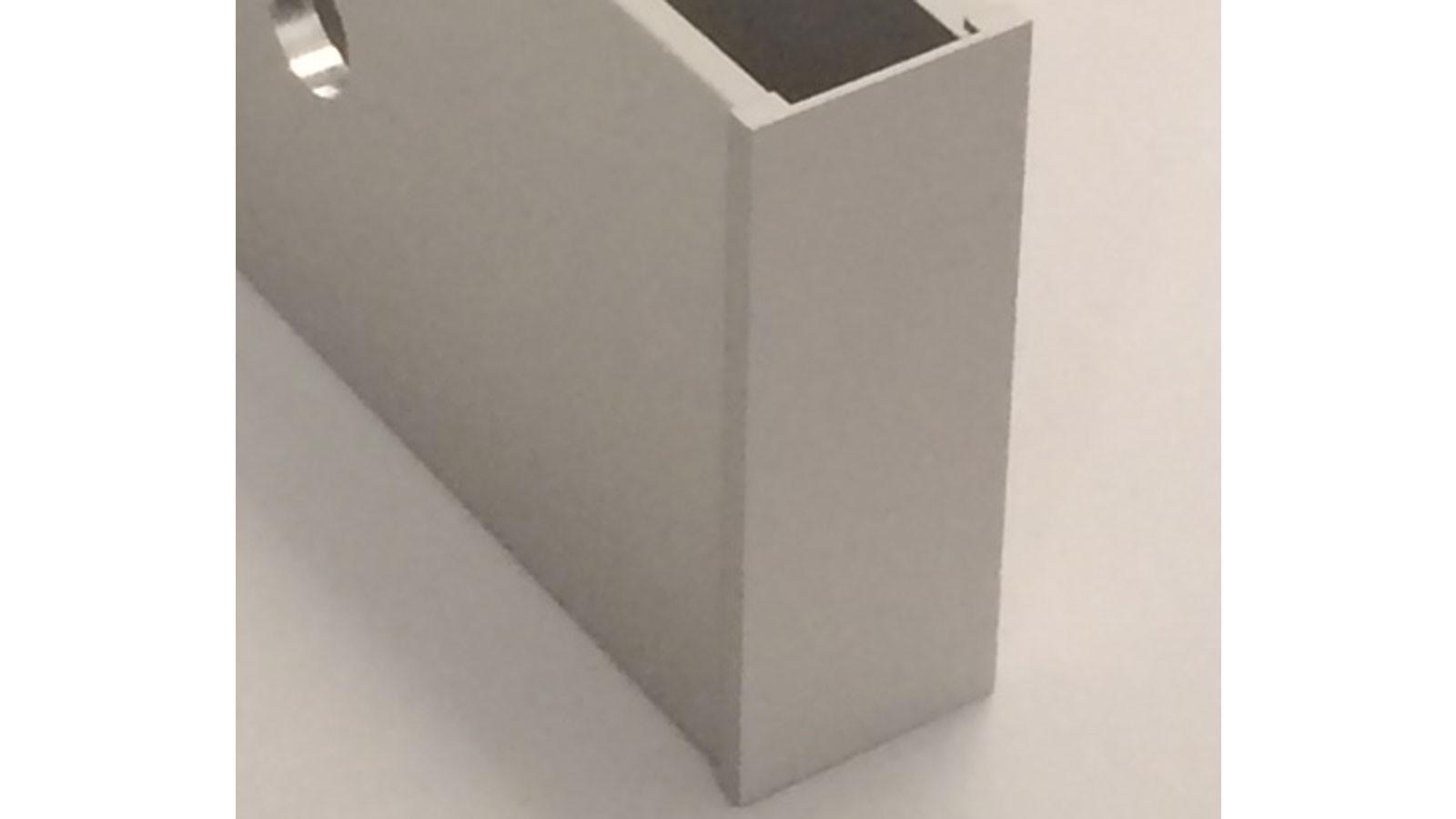 ganzglasgel nder endkappe rechts aluminium silber eloxiert passend zu profil 10 3000 202 11. Black Bedroom Furniture Sets. Home Design Ideas