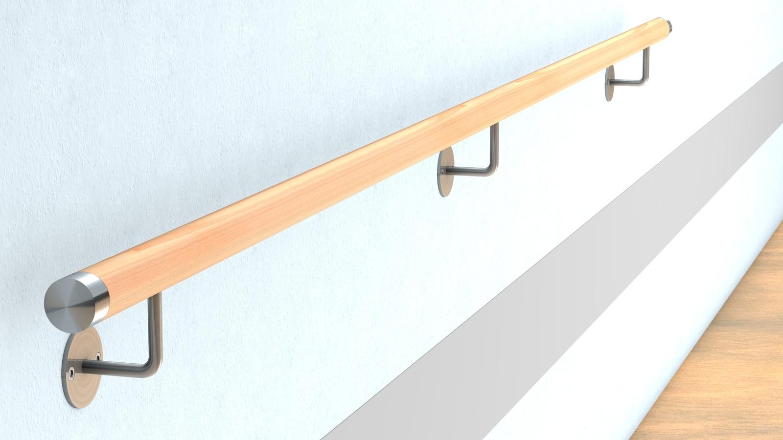 buche wand handlauf befestigung mit sichtbarer verschraubung f r 44 00 bestellen huero. Black Bedroom Furniture Sets. Home Design Ideas