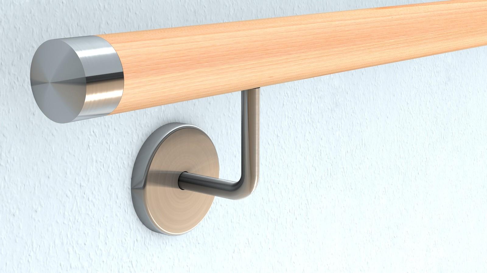 buche wand handlauf befestigung mit verdeckter. Black Bedroom Furniture Sets. Home Design Ideas