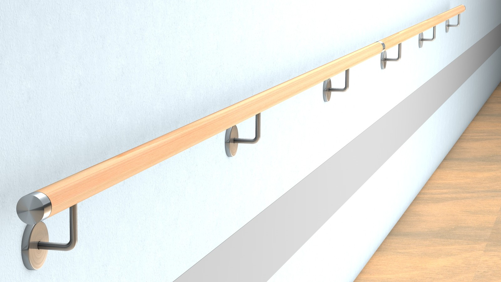 buche wand handlauf befestigung mit verdeckter verschraubung f r 47 00 bestellen huero. Black Bedroom Furniture Sets. Home Design Ideas