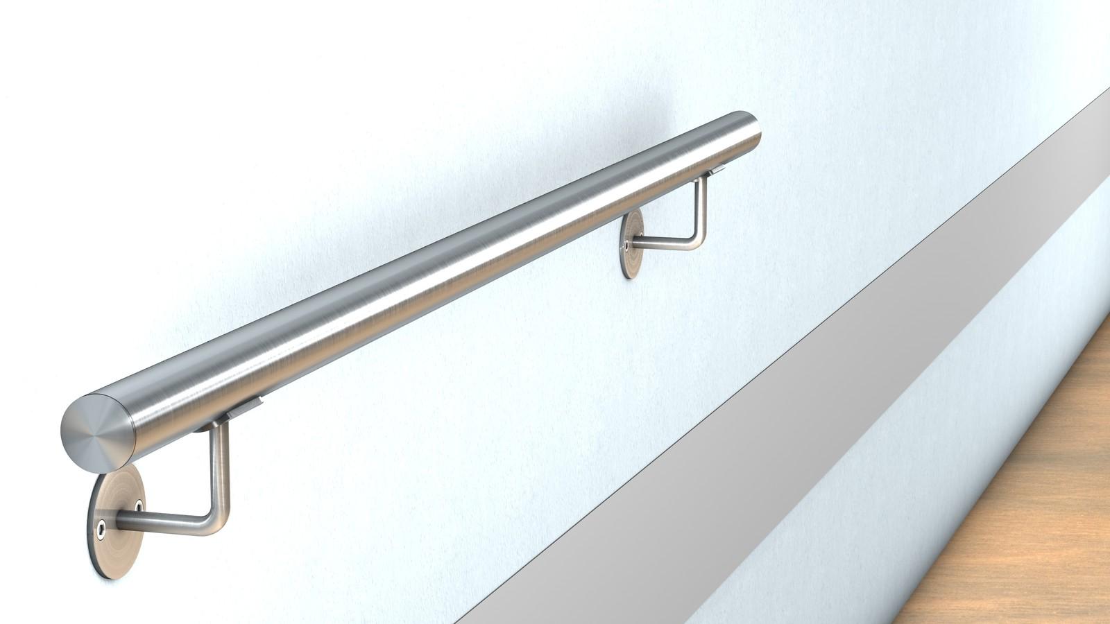 edelstahl wand handlauf befestigung mit sichtbarer verschraubung f r 44 00 bestellen huero. Black Bedroom Furniture Sets. Home Design Ideas