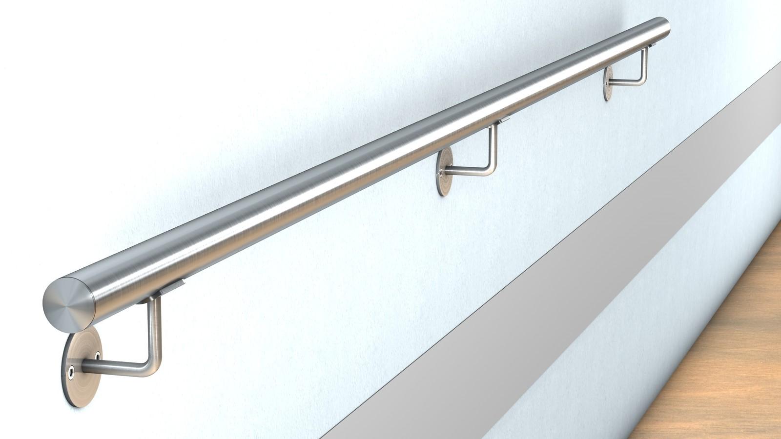 edelstahl wand handlauf befestigung mit verdeckter verschraubung f r 47 00 bestellen huero. Black Bedroom Furniture Sets. Home Design Ideas