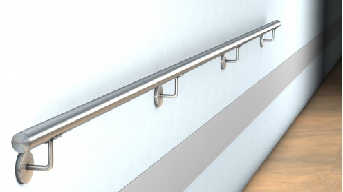 edelstahl wand handlauf befestigung mit verdeckter. Black Bedroom Furniture Sets. Home Design Ideas