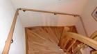 Handlauf Buche, Holzhandlauf montiert im Treppenabgang