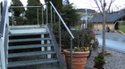 Edelstahl Handlauf | freistehend | Außentreppe
