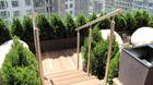 Handlauf aus Edelstahl zur Bodenmontage - montiert auf Terrasse