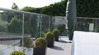Glasgeländer für die Terrasse