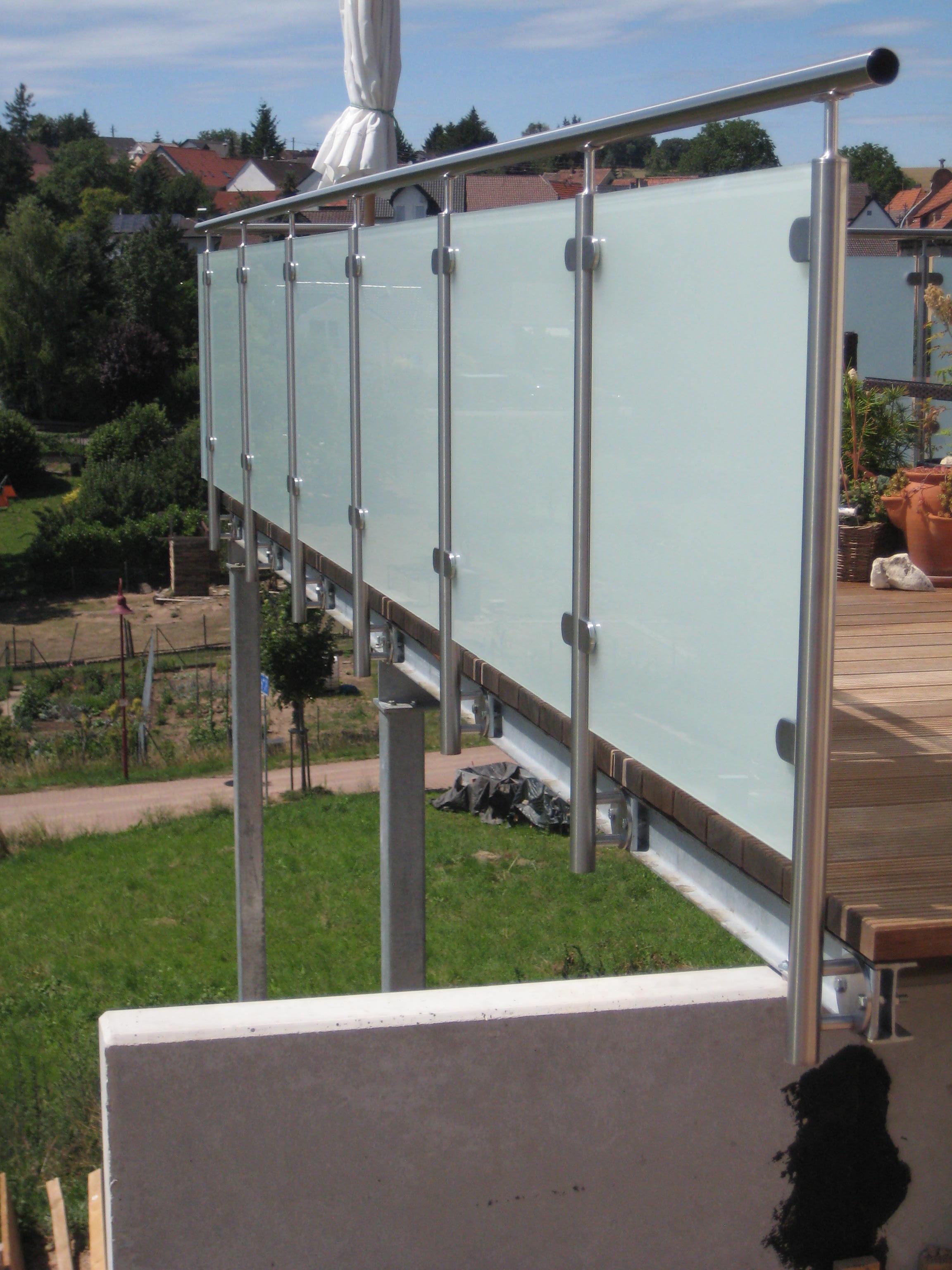 Edelstahlgelander Mit Glas Bausatze Von Huero De