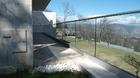 Terrassengeländer große Glasfronten