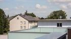 Ganzglasgeländer mit Milchglas - montiert auf Dachterrasse