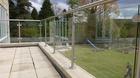 Glas-Pfosten-Geländer mit Klarglas_15