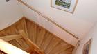 Handlauf Buche, Holzhandlauf mit jeweils 3 Handlaufträgern