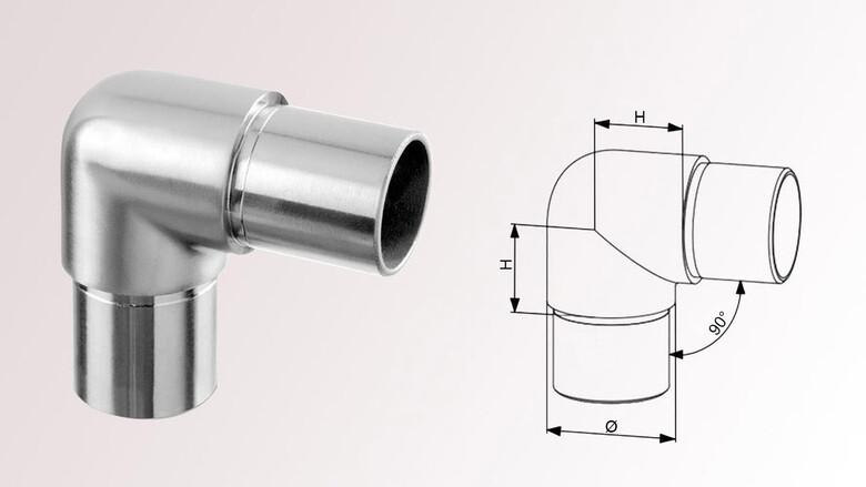 Rohrverbinder mit Mittelsteg für Rohr 42,4 x 2,0 m